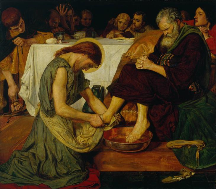 Ford Madox Brown 'Jesus Washing Peter's Feet', 1852–6